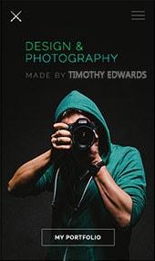 Photograpy Website Design Slider